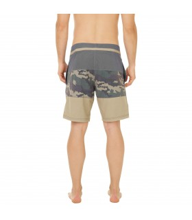 Boardshort Court Homme Freegun Band Camouflage Vert