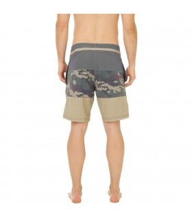 Boardshort Court Homme Freegun Band Camouflage Vert