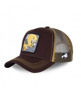 Men's Capslab Looney Tunes Tweety Black Trucker Cap