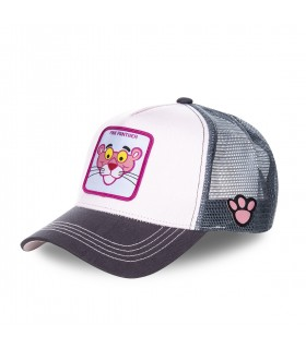 Men's Capslab Pink Panther White Trucker Cap