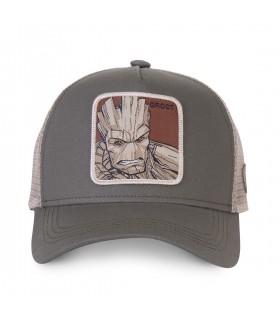 Casquette Capslab trucker Marvel Groot Gris