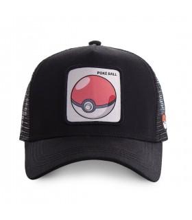 Casquette Capslab trucker Pokemon Pokeball Noir