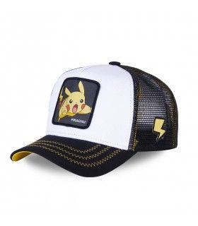 Men's Capslab Pokemon Pikachu White Trucker Cap