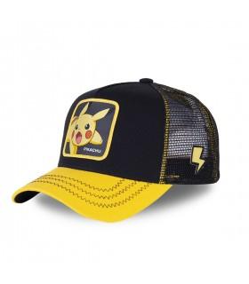 Men's Capslab Pokemon Pikachu Black Trucker Cap