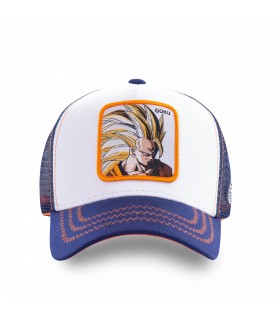 Men's Capslab Dragon Ball Z Sangoku Super Saiyan White Trucker Cap