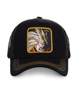 Men's Capslab Dragon Ball Z Sangoku Super Saiyan Black Trucker Cap