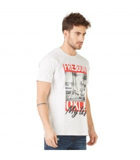T-shirt Homme Freegun OKLM Blanc