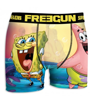 Boxer Homme Bob l'Eponge FRIENDS FREEGUN