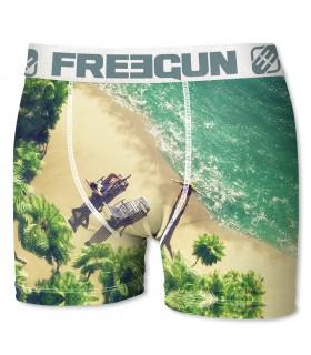 Boxer Homme Freegun Beach Beige