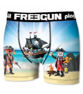 Boxer Garçon Freegun Playmobil Pirates Bleu