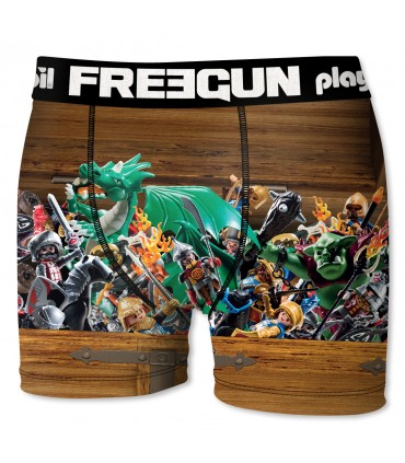 Lot de 4 boxers Garçon Freegun Playmobil Multicolore