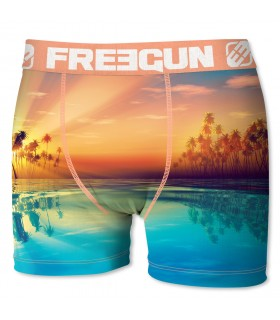 Boxer Garçon Freegun Sun Orange