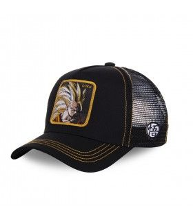 Men's Capslab Dragon Ball Z Sangoku Super Saiyan Black Trucker Cap