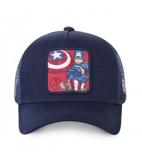 Casquette Capslab trucker Marvel Captain America Bleu