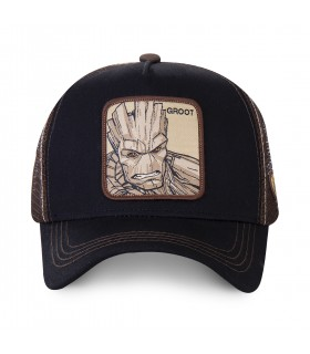 Casquette Capslab trucker Marvel Groot Noir