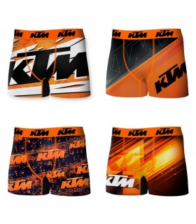lot de 4 boxers ktm orange et noir homme