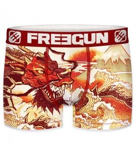 Boxer homme en microfibre Dragon Freegun Multicoloree