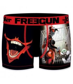 Boxer homme microfibre DC Comics Harley & Joker Noir