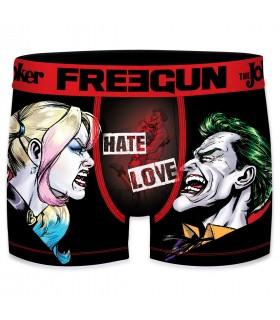 Boxer homme microfibre DC Comics Hate Love Noir