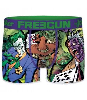 Boxer Freegun homme DC Comics Double joker Vert