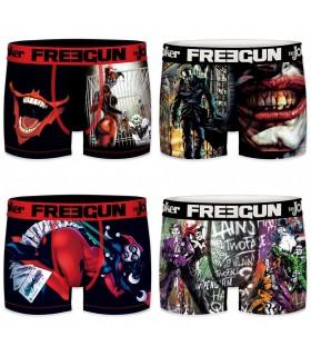Lot de 4 boxers homme microfibre DC Comics Multicolore