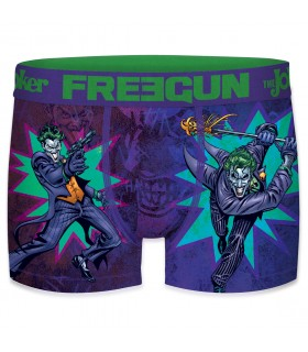 Boxer Freegun garcon DC Comics Joker Violet