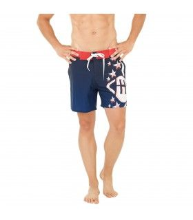 Boardshort court homme Freegun Bleu