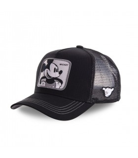 Casquette filet Capslab Disney Mickey Noir
