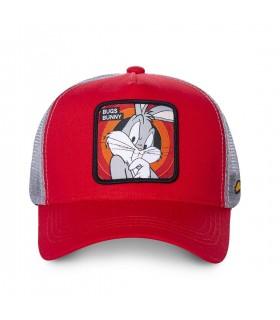 Men's Capslab Looney Tunes Bunny Red Trucker Cap