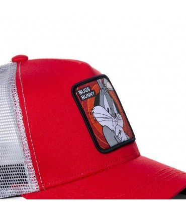 Casquette Capslab trucker Looney Tunes bugs bunny Rouge