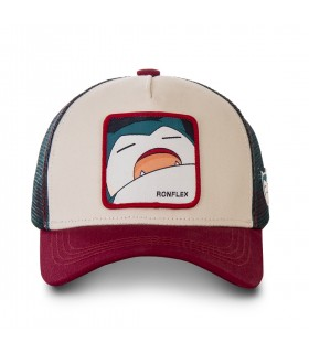Casquette Capslab trucker Pokemon Snorlax Beige