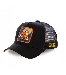 Men's Capslab Looney Tunes Yosemite Sam Black Trucker Cap