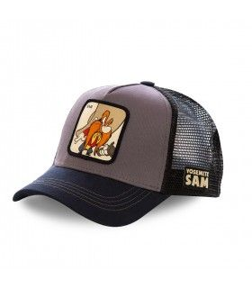 Men's Capslab Looney Tunes Yosemite Sam Grey Trucker Cap