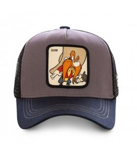 Casquette Capslab trucker Looney Tunes Sam le Pirate Gris