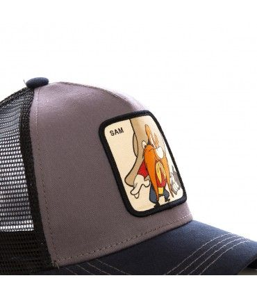 Casquette Capslab trucker Looney Tunes Sam le pirate Gris