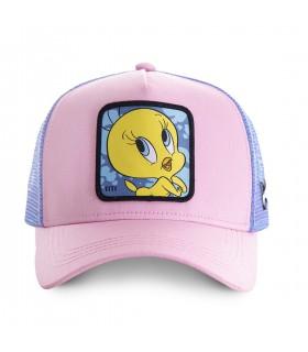 Casquette Capslab trucker Looney Tunes Titi rose
