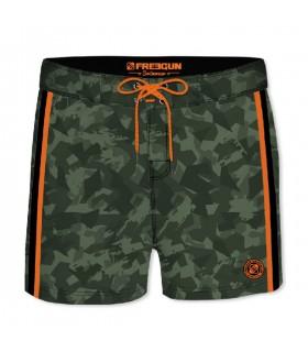 Boardshort Court Homme Freegun Camouflage Vert