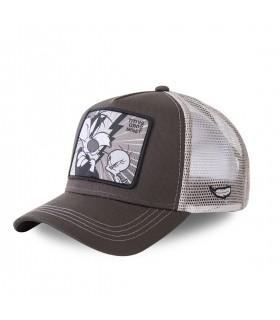 Casquette Capslab Trucker Looney Tunes Titi VS Gros Minet Gris