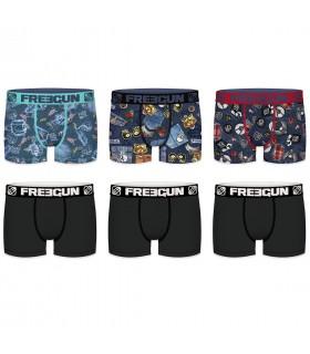 Pack de 6 Boxers garcon Freegun AMZ F1