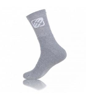 chaussette freegun à l'unité gris avec logo blanc