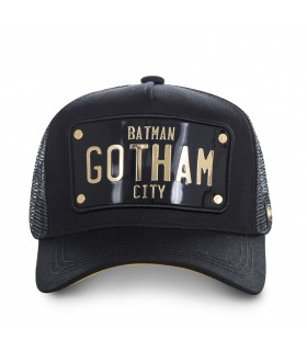 Casquette filet Capslab Dc Comics Batman Gotham Noir