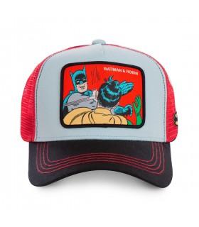 Casquette Capslab Dc Comics Batman & Robin Bleu