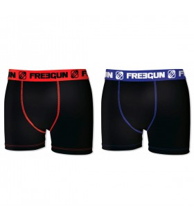 Lot de 2 Boxers Homme Freegun Noir