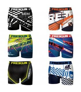 Boxers homme microfibre Packx6 Freegun E3