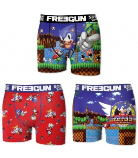 Boxers homme microfibre Packx3 Freegun Sonic E1
