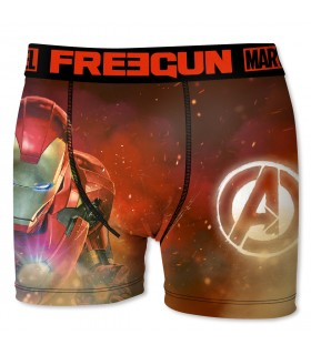 Boxers hommme microfibre Packx5 Freegun Marvel E1