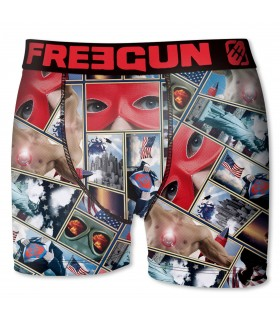 Boxers garçon microfibre Packx4 Freegun E5