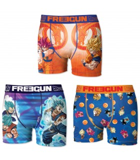 Boxers garcon microfibre Packx3 Freegun Dragon Ball Z E1