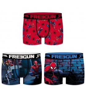 Boxers garçon microfibre Packx3 Freegun Spider Man E1