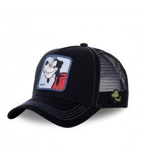 Men's Capslab Disney Goofy Black Trucker Cap